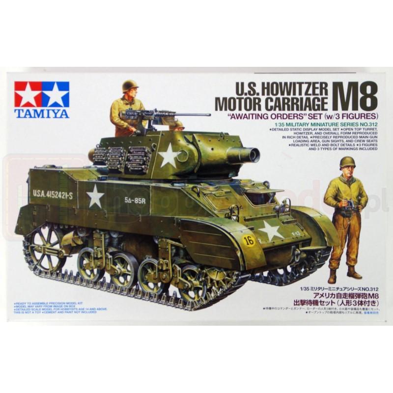 TAMIYA 35312 Działo Howitzer Motor Carriage M8 z figurkami