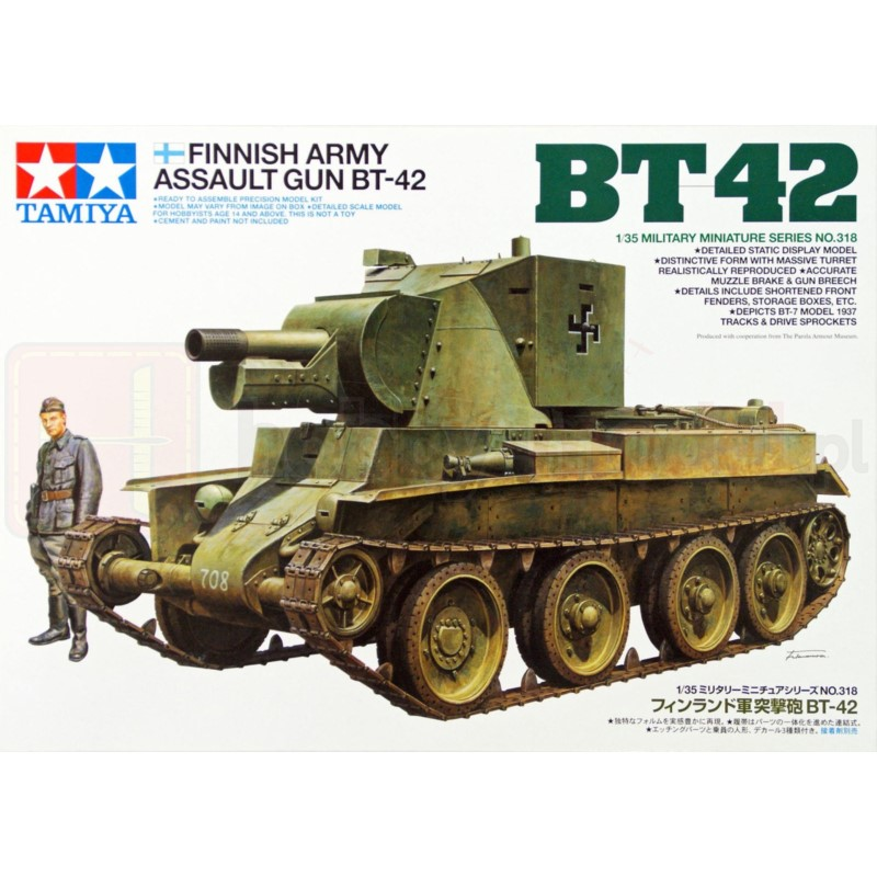 TAMIYA 35318 Działo BT-42