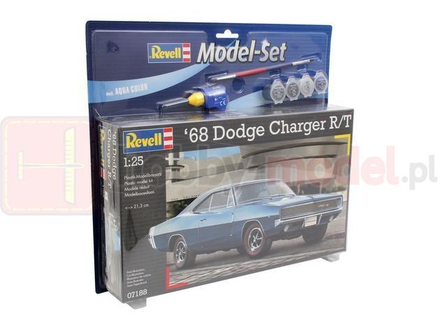 REVELL 67188 Samochód osobowy Dodge Charger 1968 (zestaw)