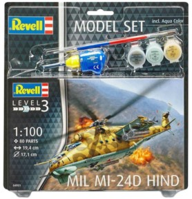 REVELL 64951 Śmigłowiec Mil Mi-24D Hind (zestaw)