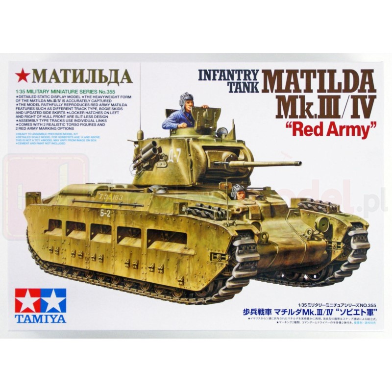 "TAMIYA 35355 Czołg Matilda Mk.III/IV ""Red Army"""