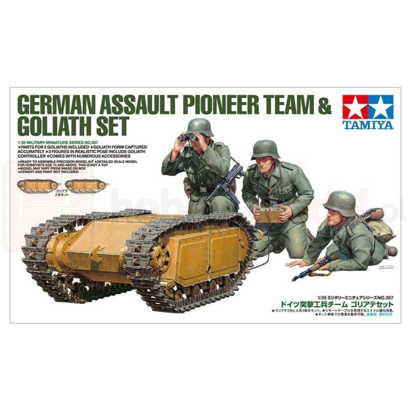 TAMIYA 35357 Figurki Niemiecki pionier szturmowy Goliath