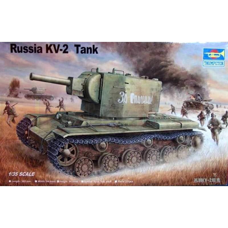 TRUMPETER 00312 Czołg ciężki KV-2