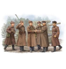 TRUMPATER 00428 Figurki Radziecka inspekcja dowódcy artylerii