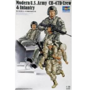 TRUMPETER 00415 Amerykańska piechota Modern U.S. Army CH-47D Crew & Infantry