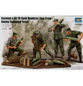 TRUMPETER 00425 Niemieccy żołnierze German Field Howitzer Gun Crew (on firing)