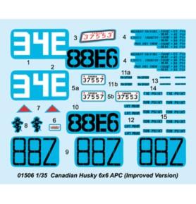 TRUMPETER 01506 Wóz Husky 6×6 APC (Ulepszona wersja)