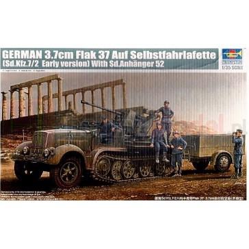 TRUMPETER 01525 Działo 3,7 cm FlaK37 & Sd.Kfz.7/2