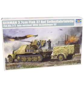TRUMPETER 01526 Działo 3,7 cm FlaK37 & Sd.Kfz.7/2