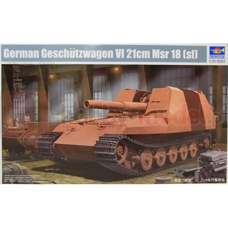 TRUMPETER 01540 Działo samobieżne Geschutzwagen Tiger Grille II