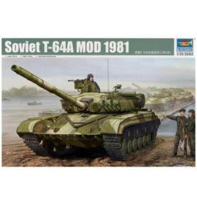 TRUMPETER 01579 Czołg T-64A Model 1981