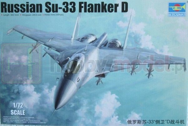 TRUMPETER 01667 Myśliwiec Su-33 Flanker D