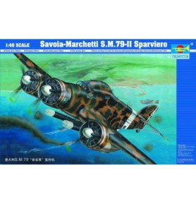 TRUMPETER 02817 Bombowiec torpedowy Savoia-Marchetti SM.79-II Sparvier