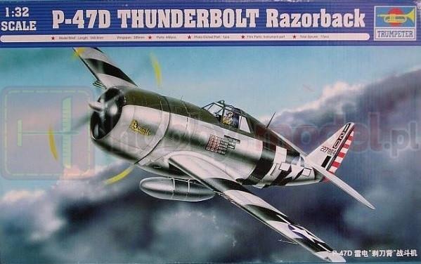 TRUMPETER 02262 Myśliwiec P-47D Thunderbolt Razorback
