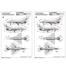TRUMPETER 02860 Myśliwiec J-7B Fighter