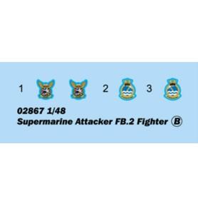 TRUMPETER 02867 Myśliwsko-bombowy Supermarine Attacker FB.2
