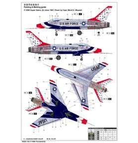 TRUMPETER 03222 Bombowiec F-100D