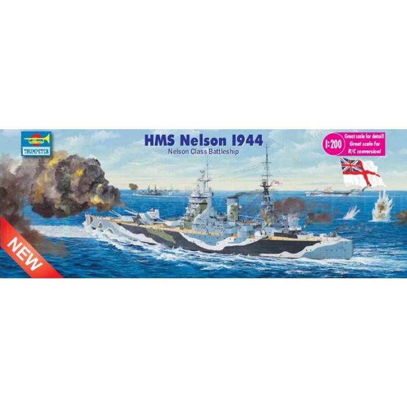 TRUMPETER 03708 Pancernik HMS Nelson 1944