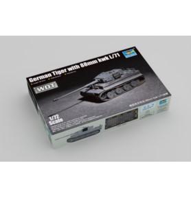 TRUMPETER 07164  Czołg Tiger w/88mm kwk L/71
