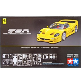 TAMIYA 24297 Samochód Ferrari F50 Wersja żółta