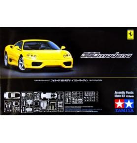 TAMIYA 24299 Samochód Ferrari 360 Modena Wersja żółta