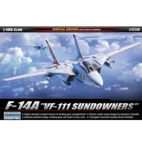 ACADEMY 12230 Nadźwiękowy myśliwiec pokładowy F-14A Tomcat Sundowers