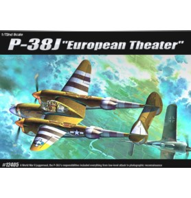 ACADEMY 12405 Samolot myśliwski P-38J