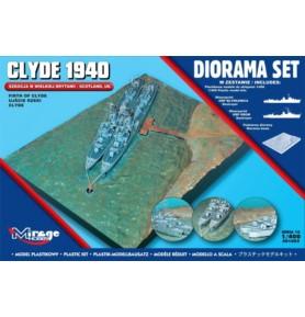 MIRAGE 401002 Port wojenny Diorama Clyde 1940