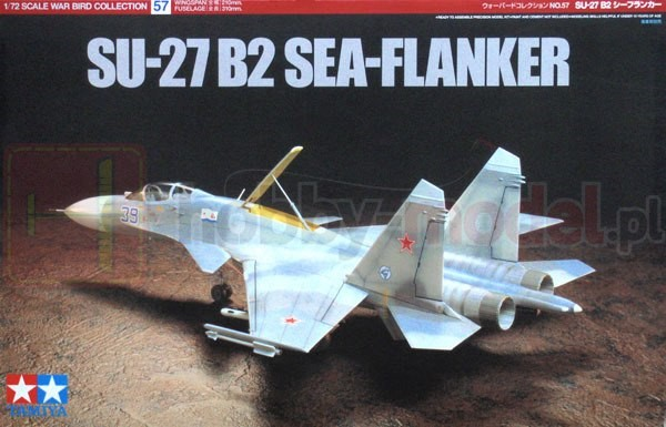 TAMIYA 60757 Myśliwiec SU-27 B2 Sea Flanker