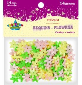 Cekiny kolorowe kwiaty Titanum 14g x 14mm