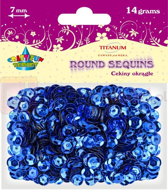 Cekiny okrągłe granatowe Titanum 14g x 7mm