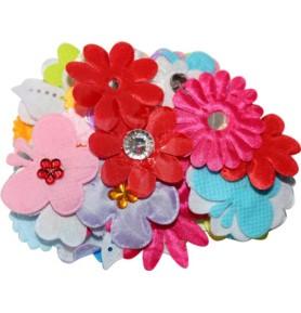 Dekoracje materiałowe Titanum kwiatki