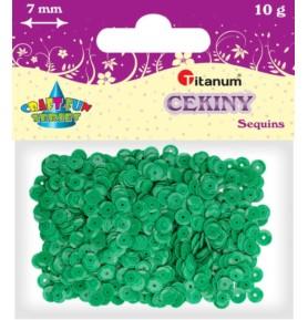 Cekiny okrągłe zielone Titanum 10g x 7mm
