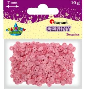 Cekiny okrągłe jasno różowe pastelowe Titanum 10g x 7mm