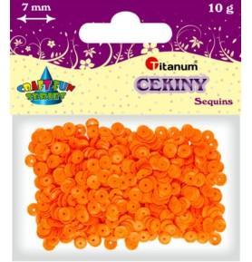 Cekiny okrągłe pomarańczowe pastelowe Titanum 10g x 7mm