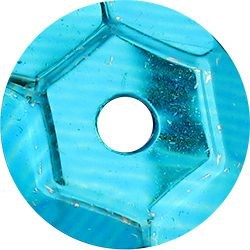 Cekiny okrągłe turkusowe metaliczne Titanum 10g x 7mm