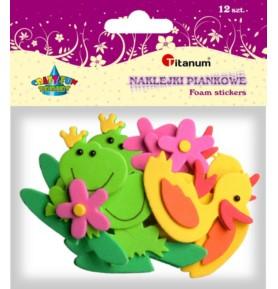 Naklejki piankowe Titanum - kaczki żaby kwiaty
