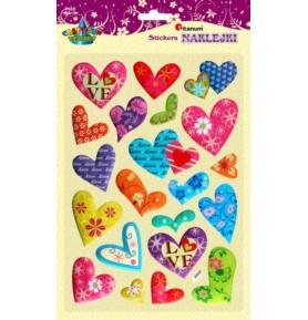 Naklejki dekoracyjne Titanum - serca