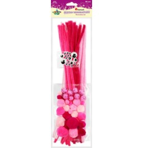 Zestaw dekoracyjny Titanum 80 sztuk różowy