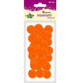 Pompony dekoracyjne Titanum 25mm pomarańczowe