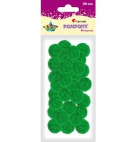 Pompony dekoracyjne Titanum 25mm zielone