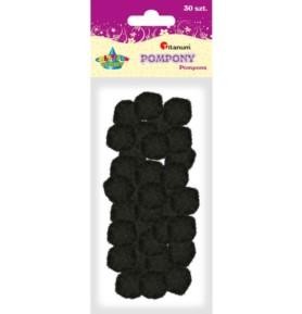 Pompony dekoracyjne Titanum 25mm czarne