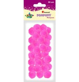 Pompony dekoracyjne Titanum 25mm różowe