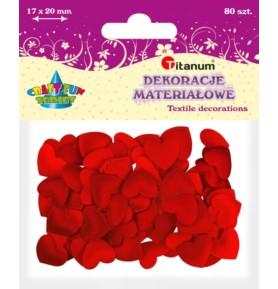 Dekoracje materiałowe Titanum serca