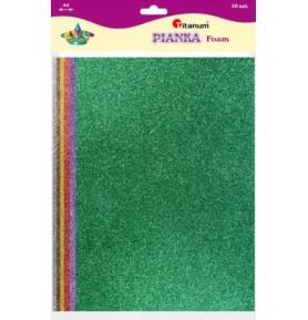 Pianka dekoracyjna brokatowa A4 Titanum 10 kolorów
