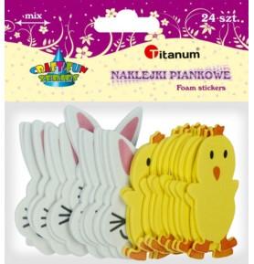 Naklejki piankowe Titanum - zające, kurczaki
