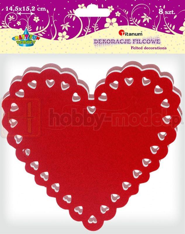 Dekoracje filcowe Titanum serca