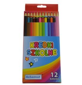 Kredki ołówkowe Schemat 12 kolorów