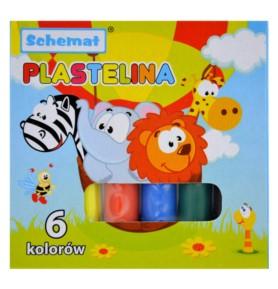 Plastelina Schemat 6 kolorów