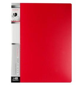 Teczka ofertowa Titanum A4 80 koszulek czerwona